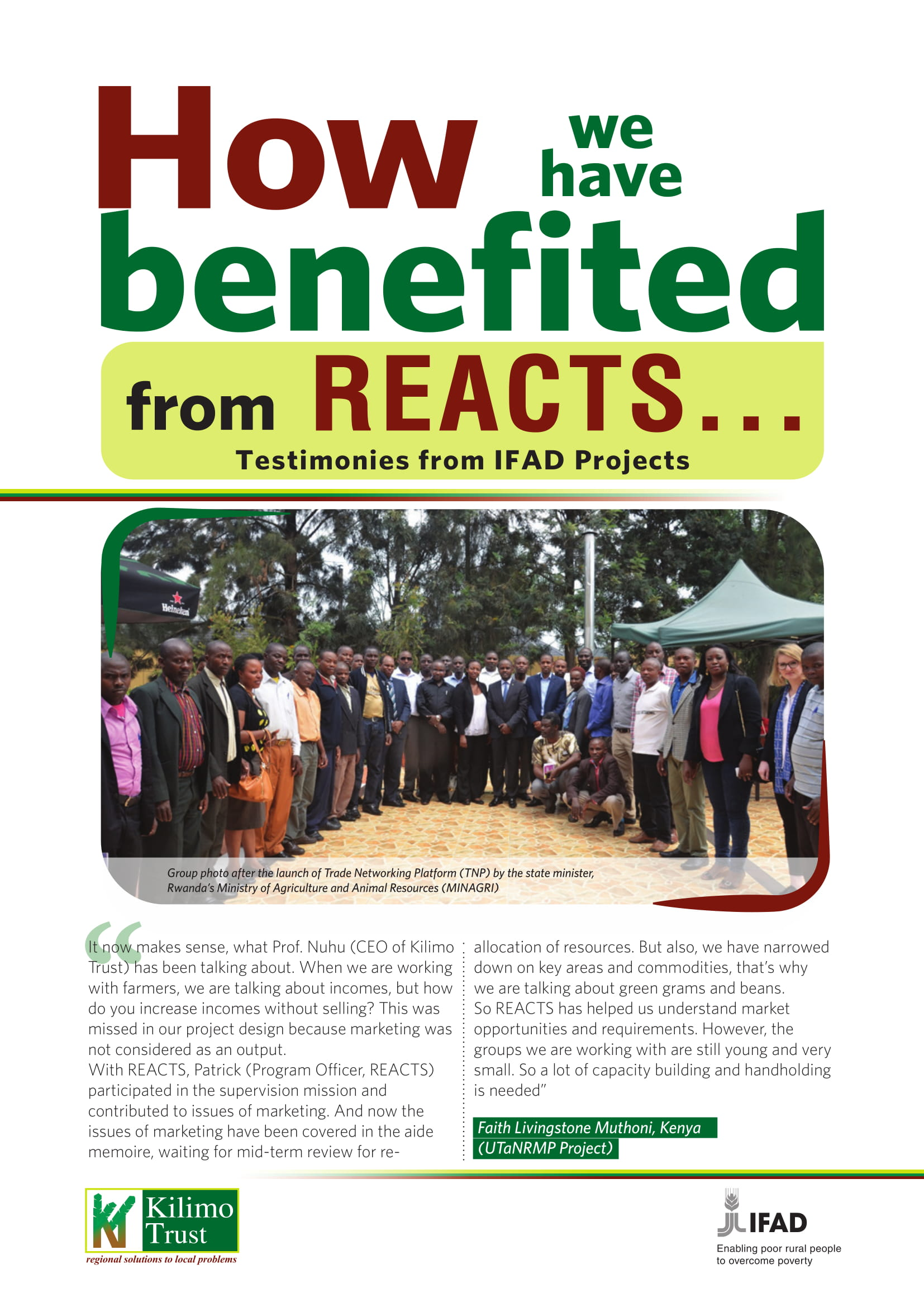 reacts testimonies from ifad projects 1